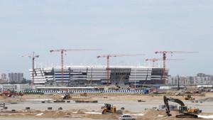 Arena Kaliningrado: falência da empreiteira prejudicou o cronograma do estádio