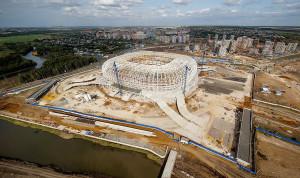 Arena Mordovia: construído em região que não tem o futebol como esporte principal, estádio encolheu