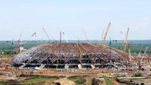 Arena Samara: o estádio mais atrasado não terá área para estacionamento