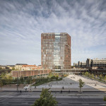 Torre Maersk: prédio abriga todos os cursos da área da saúde da universidade de Copenhague. Crédito: MIPIM Awards