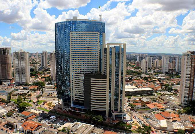 Órion - Business & Health, em Goiânia-GO: inaugurado em novembro de 2017, tem 50 pavimentos e mais de 190 metros de altura. Crédito: FR Incorporadora