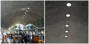 Cobertura em casca de concreto armado foi um dos detalhes que levou a edificação a receber a premiação. Crédito: Sebrae