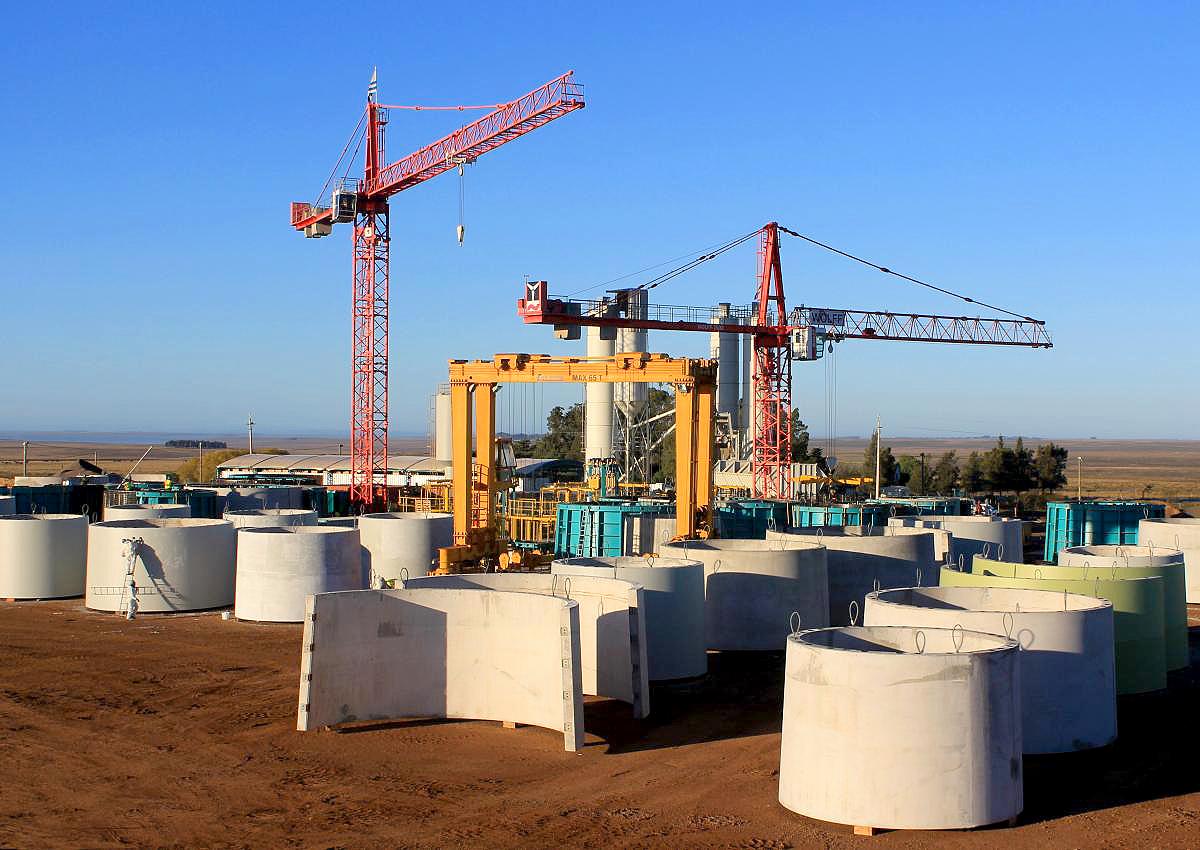 Elementos de concreto podem ser produzidos no local de instalação dos parques eólicos. Crédito: Divulgação