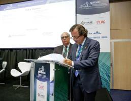 Dionyzio Klavdianos, presidente da Comat, da CBIC: academia e setor produtivo da construção precisam interagir. Crédito: Rafaela Martins/CBIC