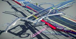 Projeto de rodovia concebido a partir da tecnologia BIM: ferramenta eleva produtividade e reduz custo da obra. Crédito: Divulgação