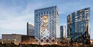 City of Dreams: complexo ganhou prédio projetado por Zaha Hadid. Crédito: Divulgação