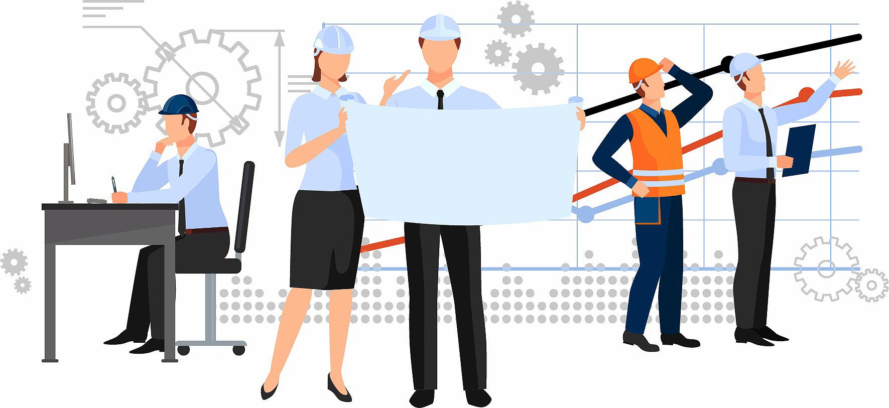 Quanto mais engenheiros civis jovens entram no mercado de trabalho mais cresce demanda por gerentes versáteis. Crédito: Divulgação