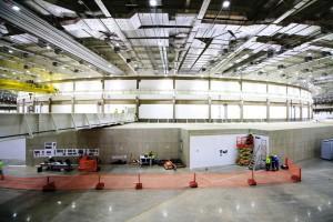 """Túnel foi construído com concreto armado moldado """"in loco"""", sem junta de dilatação, para garantir o confinamento da radiação. Crédito: Racional Engenharia"""