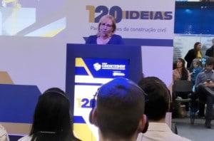 Glécia Vieira: consumidor está muito mais bem informado do que se possa imaginar sobre Norma de Desempenho e tecnologias construtivas Crédito: Cia. de Cimento Itambé