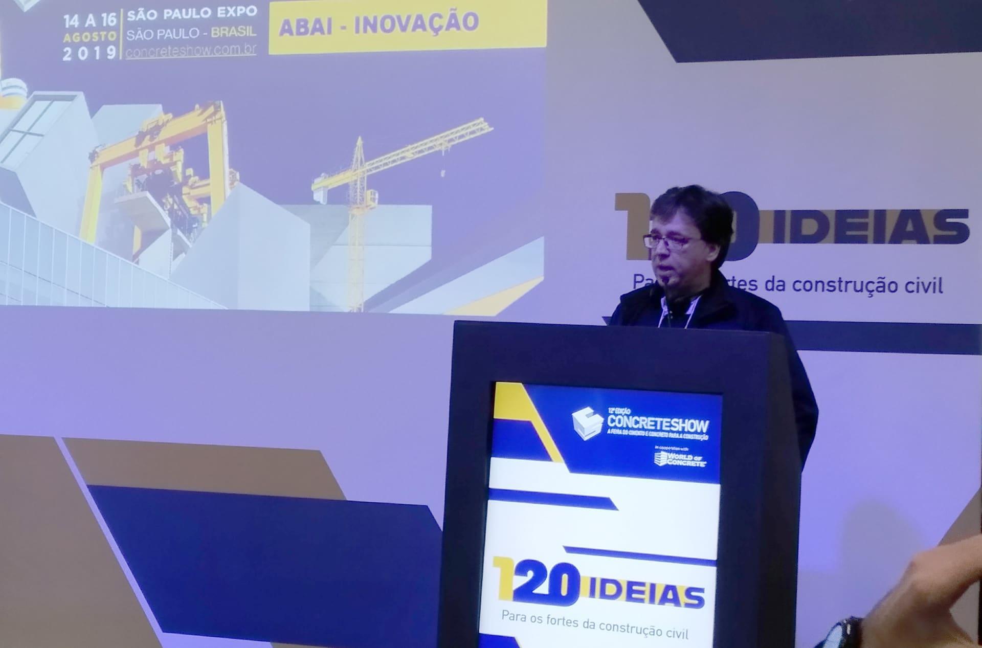 Marcelo Borba Guimarães, da ABAI: novas argamassas cimentícias dispensam chapisco, emboço e reboco Crédito: Cia. de Cimento Itambé