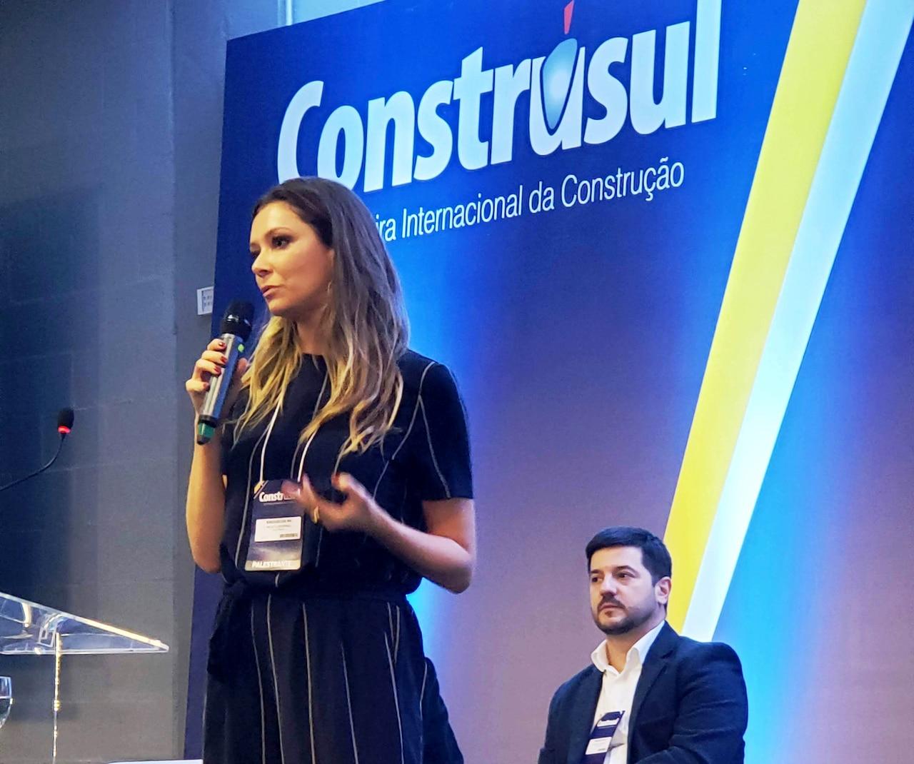 Foto  Renata Broering: realidade aumentada e a inteligência artificial são elementos-chaves para o aumento da produtividade e da qualidade na construção Crédito: Construsul