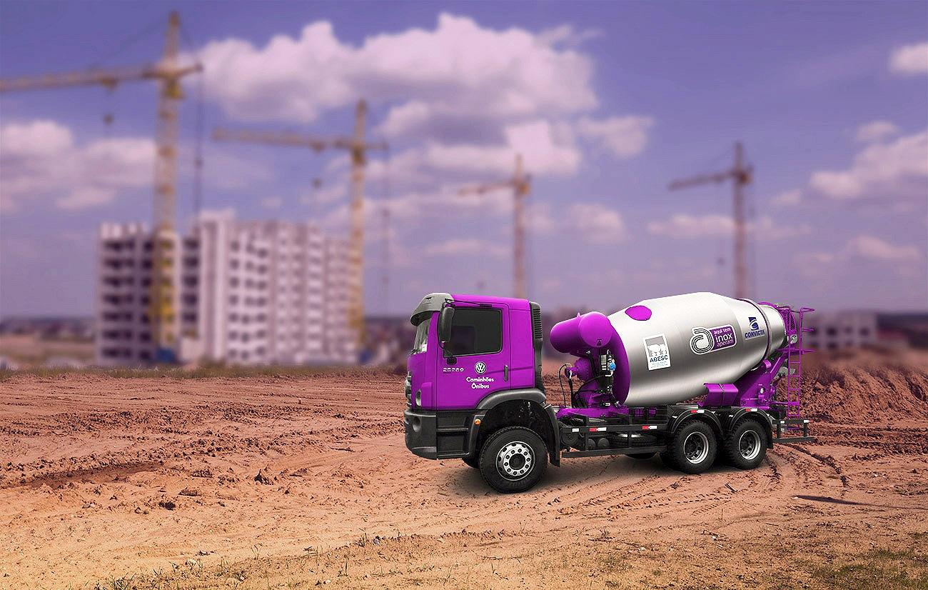 Foto  Betoneira ultraleve já tem dois protótipos em operação, e deve chegar ao mercado em 2020 Crédito: ABESC