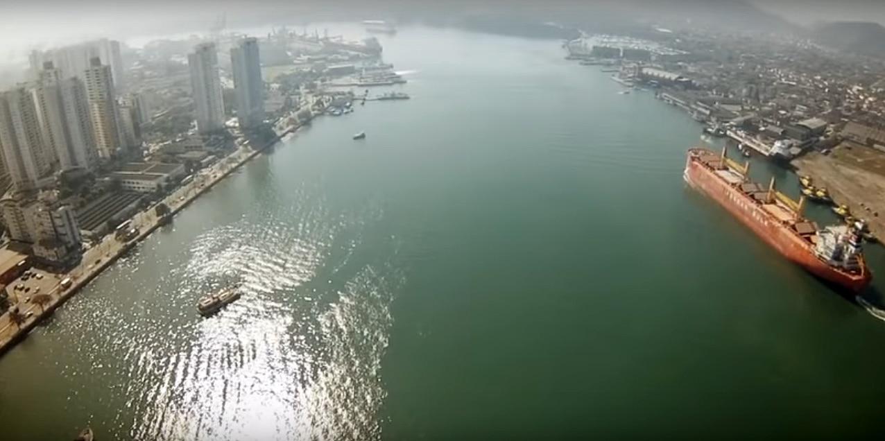 Ligação por túnel entre Santos e Guarujá uniria os pontos mais próximos entre os dois municípios do litoral paulista Crédito: Youtube