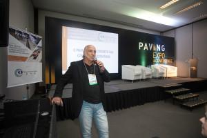 Sergio Palazzo, na Paving Expo: não adianta um bom projeto se a execução não for bem feita Crédito: Mecânica Comunicação Estratégica