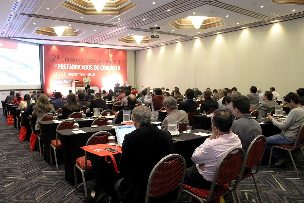 Evento realizado em setembro de 2019, em Lima-Peru, reuniu 125 influenciadores do setor de pré-fabricados de concreto do continente americano Crédito: ASOCEM