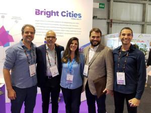Ideia da Bright Cities partiu do trabalho da pesquisadora da UNICAMP, Raquel Cardamone (centro) e foi desenvolvida pela Action Labs, de Paulo Renato Oliveira (dir.)