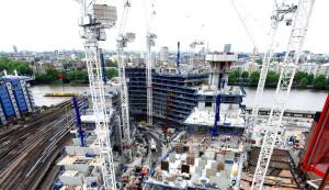 Edifício residencial em Londres: estrutura de 18 pavimentos foi montada em tempo recorde de 25 semanas Crédito: fib