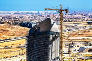 Construção do Ithra começou em 2010 e sua execução consumiu uma série de materiais produzidos exclusivamente para a obra. Crédito: Saudi Aramco