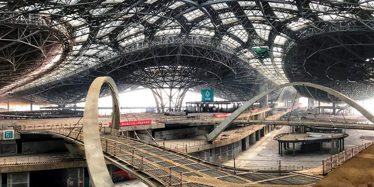 Aeroporto internacional de Pequim: um dos últimos projetos da arquiteta Zaha Hadid, que morreu em 2016. Crédito: Daxing Airport