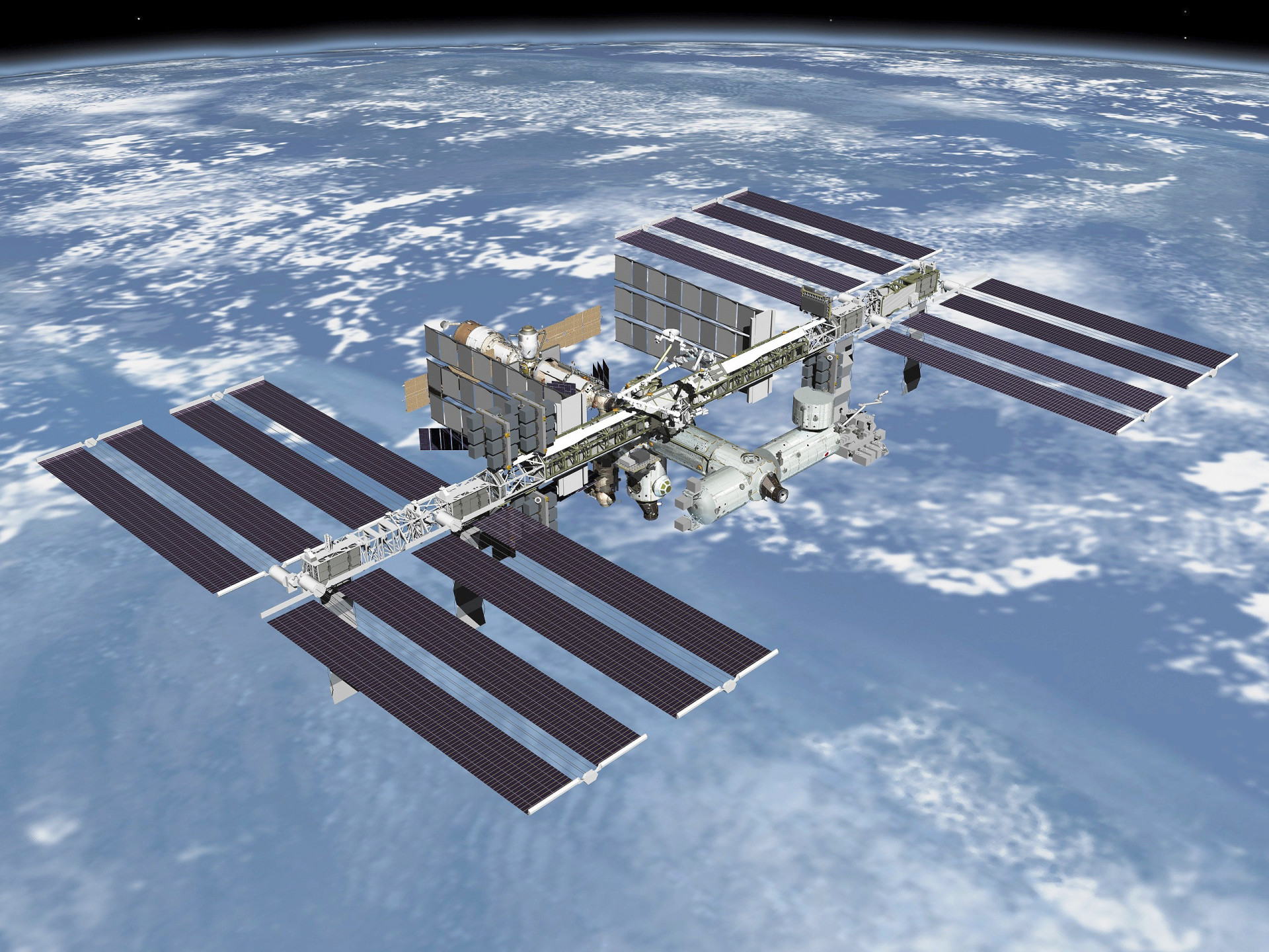 Expansão da estação espacial internacional tem custo de 66 bilhões de dólares, dividido por 15 países. Crédito: Nasa