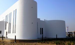 Prédio público de Dubai tem 6.400 m2 e se tornou o maior do mundo a ser construído com impressão 3D em concreto. Crédito: Apis Cor