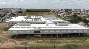 Hospital inacabado em Divinópolis-MG: exemplo do volume de obras abandonadas na área de saúde no país. Crédito: Prefeitura de Divinópolis