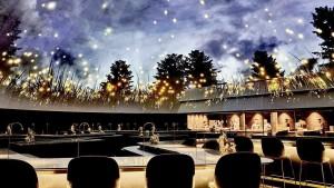 Restaurante com cúpula envidraçada e arejada: COVID-19 deve impor novas concepções arquitetônicas. Crédito: Dezeen