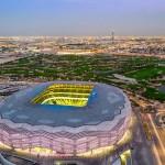 Popularmente chamada de Diamante do Deserto, o Education City Stadium é considerada a arena mais sustentável do mundo Crédito: Qatar 2022