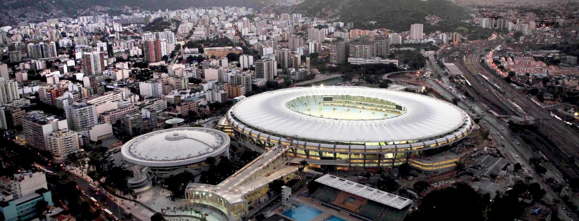 Maracanã foi construído entre 1948 e 1950 e consumiu 80 mil m³ de concreto. Em 2014, passou por uma ampla reforma Crédito: Governo do Rio de Janeiro