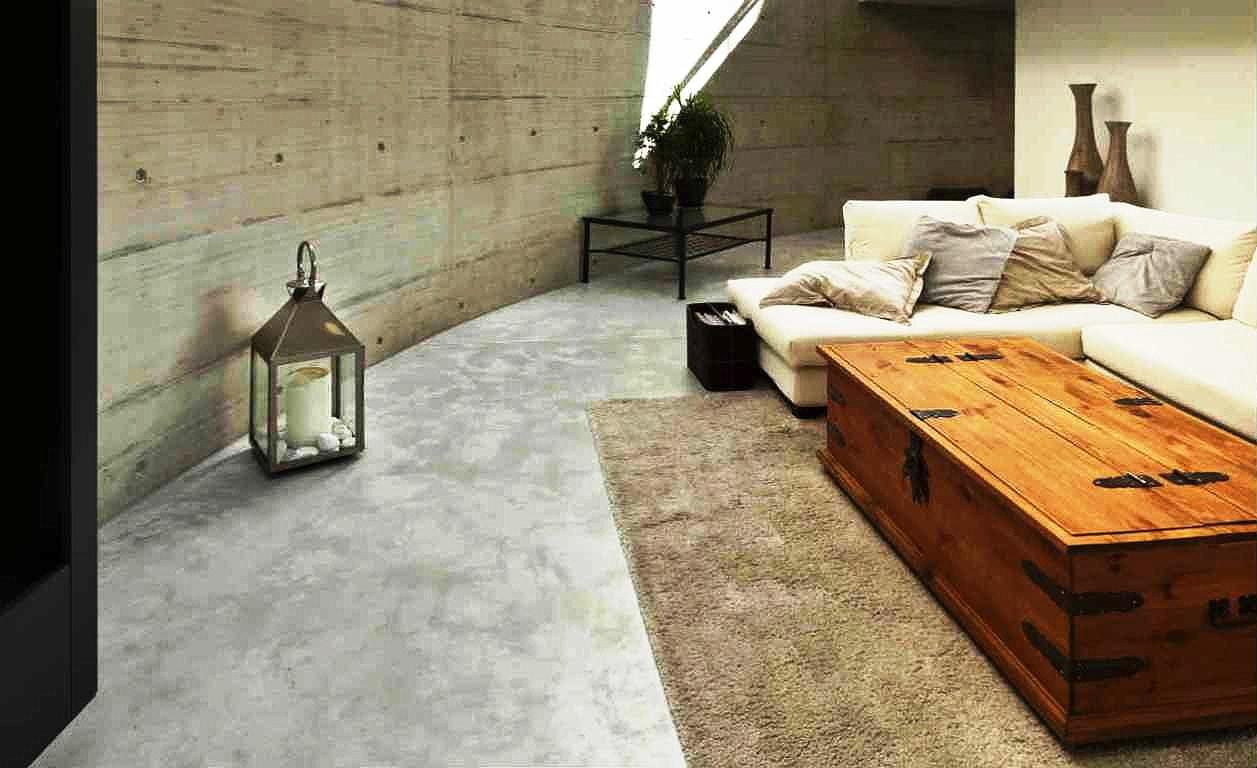 Brutalismo do concreto deixa as fachadas e se une ao cimento queimado na decoração de interiores  Crédito: banco de imagens