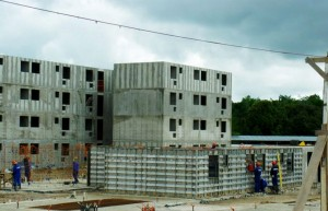 Líder do ranking, a mineira Direcional Engenharia aposta na construção de edifícios com paredes de concreto para aumentar a produtividade e ter maior volume de obras  Crédito: Direcional Engenharia