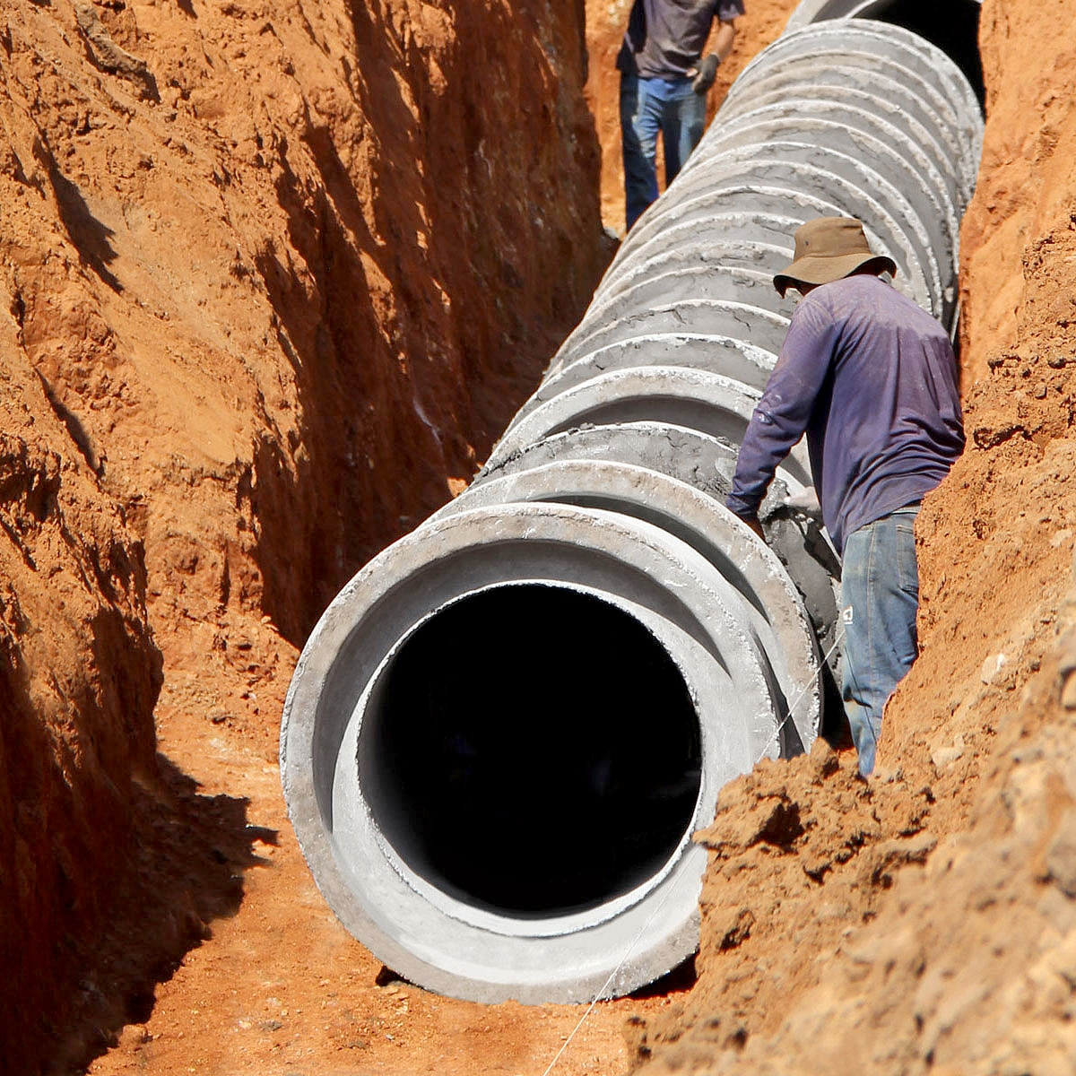 Fabricantes de tubos de concreto estão entre os que mais devem se beneficiar com a nova lei do saneamento básico  Crédito: Banco de imagens