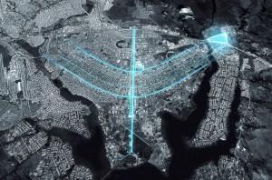 Área de 1 milhão de m², no extremo da asa norte de Brasília, será o endereço do BIOTIC Crédito: Carlos Ratti Associati