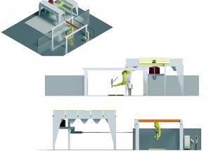 Modelo da impressora 3D que será construída na sede da ABCP, em uma área de 100 m² Crédito: Prodty