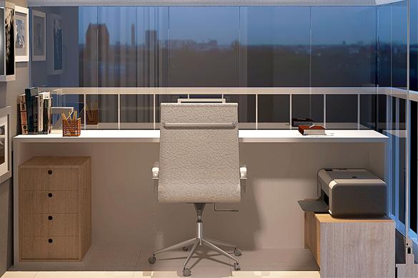 Imóveis que tenham varanda que possam abrigar um home office são os preferidos pelos compradores  Crédito: Pinterest
