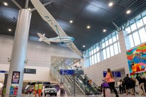 Aeroporto Salgado Filho ganhou novo edifício-garagem, construído com elementos pré-fabricados de concreto Crédito: ministério da Infraestrutura
