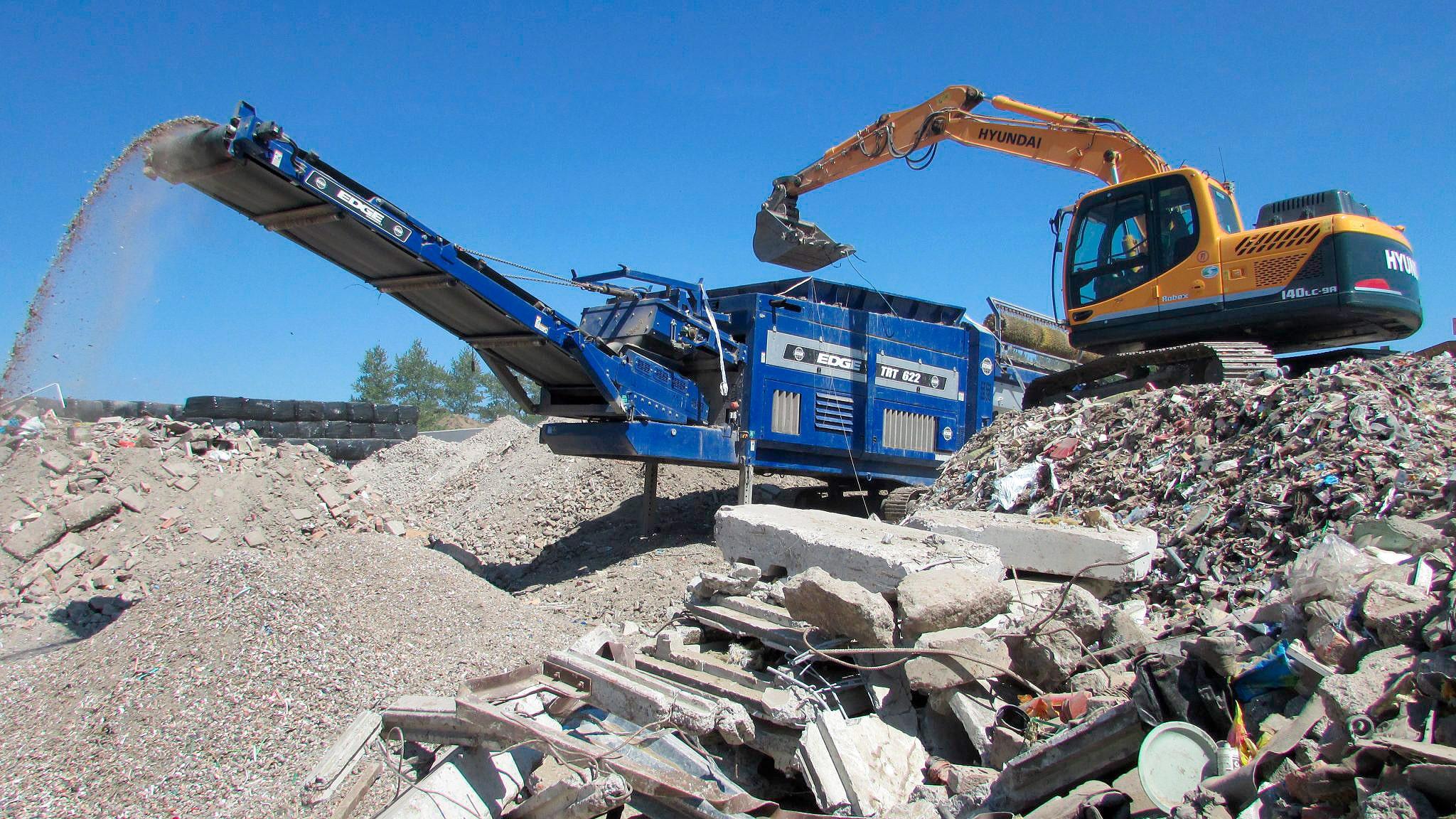 Dos agregados reciclados, o único que já é realidade é a brita a partir de resíduos de concreto armado demolido Crédito: Banco de Imagens