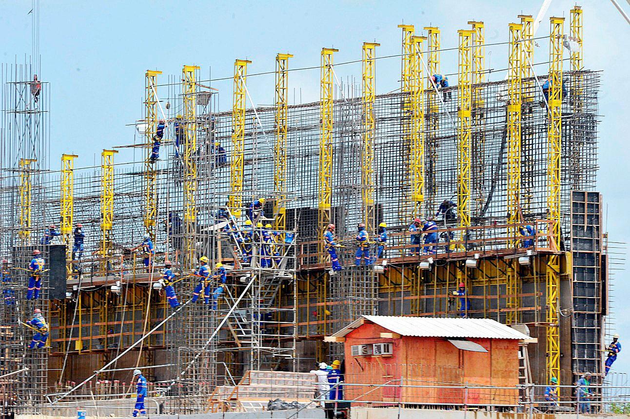 Confiança no setor da construção civil segue em alta pelo quinto mês seguido, após auge da pandemia de COVID-19 Crédito: CNI
