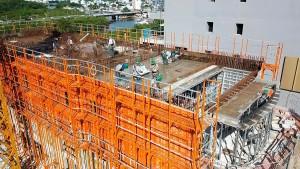 Edifício em Santa Catarina será o maior do Brasil construído com a tecnologia de paredes de concreto: fôrmas trazidas da Coreia do Sul reduzem tempo de concretagem em 20% Crédito: S-Form