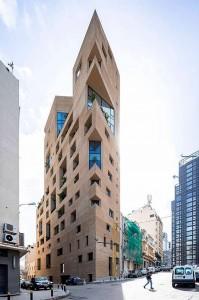 Concepção arquitetônica do Stone Garden criou aerodinâmica que permitiu ao edifício resistir ao deslocamento de ar causado pela explosão Crédito: Lina Ghotmeh Architecture