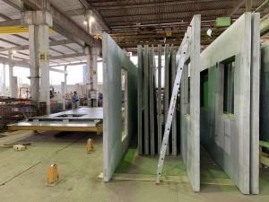 Peças são produzidas em ambiente industrial e com alta produtividade Crédito: BPM Pré-Moldados