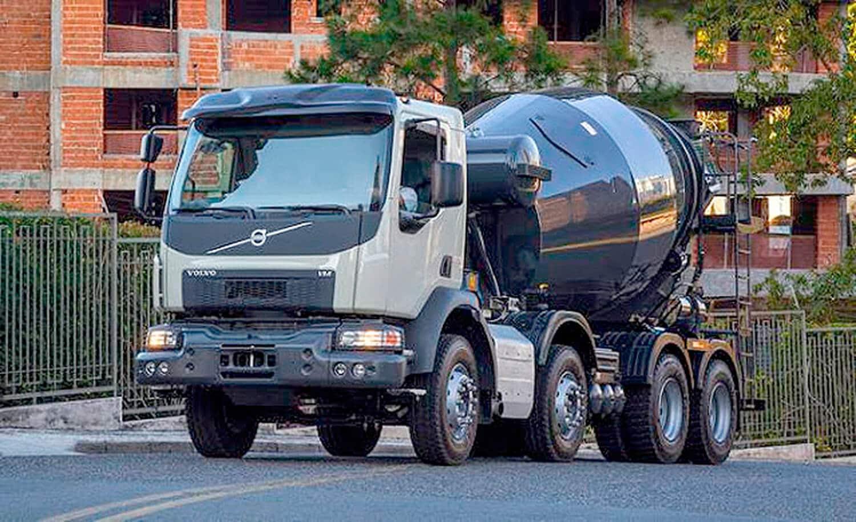 Venda de caminhões-betoneira novos teve expansão de 41,79% em 2020, na comparação com 2019 Crédito: Volvo