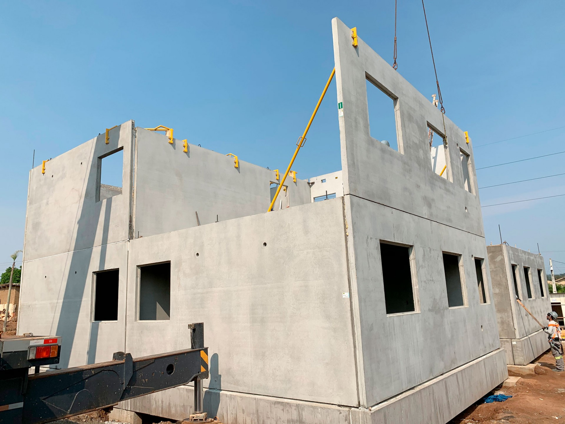 Produção modular começa a ser usada no Brasil, mas na Finlândia, Suécia e Noruega é o sistema construtivo mais empregado. Crédito: BPM Pré-Moldados