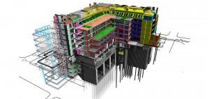 Projeto concebido dentro da ferramenta BIM aumenta produtividade e reduz custo da obra Crédito: STW Architects/Bouygues UK