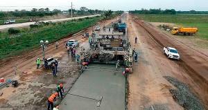 Batizada de Transchaco no Paraguai, a Rota Oceânica terá pavimento de concreto em 2/3 de seu percurso no país vizinho Crédito: MOPC/Paraguay