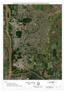 CLIQUE PARA AMPLIAR Perimetral Leste vai desviar o tráfego de caminhões da área urbana de Foz Iguaçu e terá percurso de 15 quilômetros até chegar à nova ponte Brasil-Paraguai Crédito: Itaipu Binacional