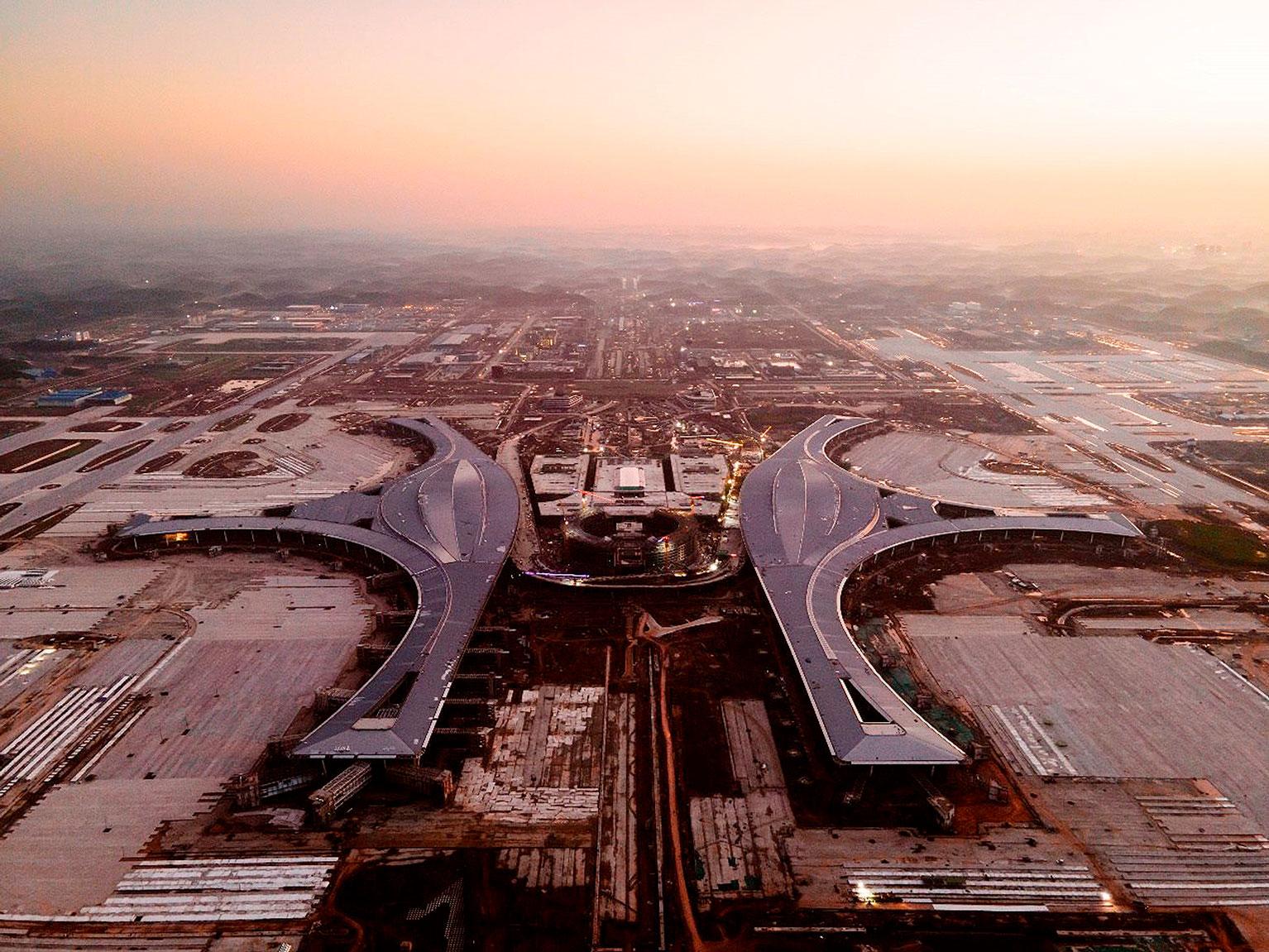 Chengdu Tianfu Airport: a mais recente obra da China State Construction & Engineering, maior construtora do mundo Crédito: CSCEC