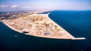 Eko Atlantic, na Nigéria: para construir a cidade foi preciso um aterro que movimentou 95 milhões de m³ de areia Crédito: Eko Atlantic