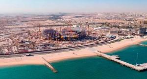 Lusail City: junto com principal estádio da Copa do Mundo de 2022 está em construção a cidade inteligente do Catar Crédito: Qatar2022