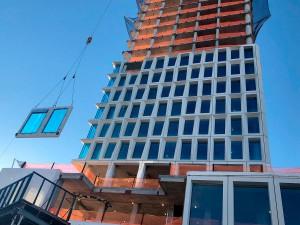 One South First, em Nova York: prédio com 42 pavimentos teve sua fachada produzida com impressão 3D em concreto Crédito: PCI